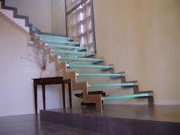 bespoke glass staircase with led effects automatic led stair lighting