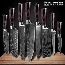 """<b>XITUO 8</b>""""<b>inch japanese</b> kitchen knives Imitation Damascus pattern ..."""