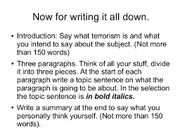 terrorism essay in englishwords written  essay for you