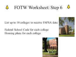 The College Presented by Tyler Junior College    ppt  List up to colleges to receive FAFSA data  Federal School Code for each college