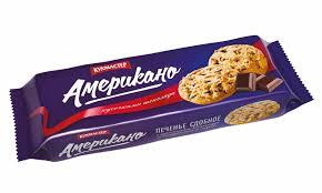 """<b>Печенье</b> """"<b>Американо</b>"""" с кусочками темного шоколада 270г ..."""