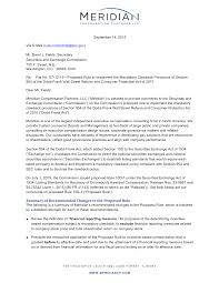 compensation letter informatin for letter compensation settlement marital settlements information sec comment letter on proposed rule on mandatory clawback