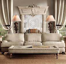 we are loving the slate walls with the creamy burlap furniture from restoration hardware can burlap furniture