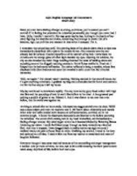 a level english essay  English Language AS Level Coursework  Creative Writing Piece   A     AQA English  English Language AS Level Coursework  Creative Writing Piece   A