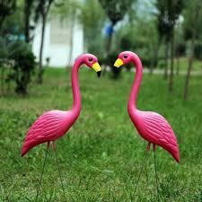 2019 Pe Lifelike <b>Artificial Flamingo Ornament</b> For Home Garden ...