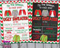ugly sweater invite ugly sweater invitation ugly christmas sweater party invite christmas party christmas ugly sweater chalkboard christmas sweater