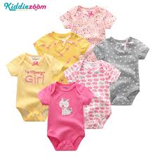 <b>6PCS</b>/<b>lot Newborn Baby</b> Girl Clothes Cotton 0 12M Baby Bodysuit ...