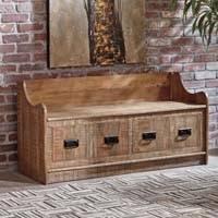 <b>Solid</b> Wood <b>Storage Bench</b> - Decor
