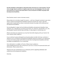 the arc of new jersey news events developmental disability letter to local business