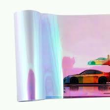 120*30cm Shiny Chameleon <b>Auto Car Styling</b> Headlights <b>Taillights</b> ...
