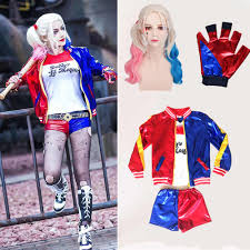 Girls Kids Harley Quinn <b>Costume</b> Cosplay JOKER Suicide Squad ...