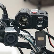 <b>Waterproof 12v</b>/<b>24v</b> Motorcycle 2*USB Charger Power Adapter ...