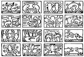 Small Picture pop art keith haring Master pieces Coloring pages for adults