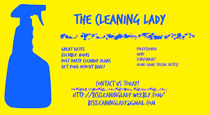 the cleaning lady we also made our first pull off tab flyers to put at a few apartment homes and townhomes around town we were nervous at first as we
