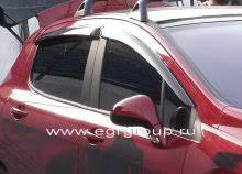 <b>Дефлекторы боковых окон Peugeot</b> 308 2008-2015 темные, 4 ...