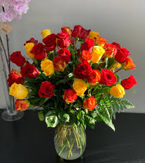 <b>Luxury Red and Yellow</b> Rose Bouquet in Minneapolis, MN | Rose ...