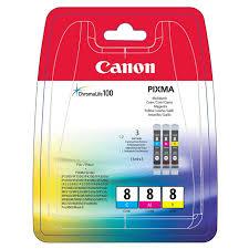 Комплект <b>картриджей Canon CLI</b>-8C/M/Y (0621B029), голубой ...
