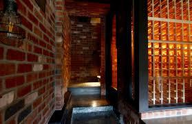 great brick wall treatment bellevue custom wine cellar