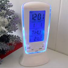 LED <b>Digital Alarm Clock</b> with Blue Backlight <b>Electronic</b> Calendar ...