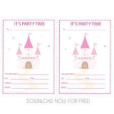 princess castle birthday party invite princess castle party invite