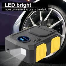With LED Flashlight Black 12V Car <b>Tire</b> Pump <b>Multifunction Portable</b> ...