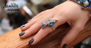 Браслет кольцо асимметричной формы в магазине ...