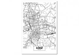 <b>Wall</b> Picture City Plan: Lodz (1 Part) <b>Vertical</b> - <b>Canvas Prints</b>