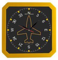 <b>Часы настенные</b> «Квадро», желтые для нанесения логотипа ...
