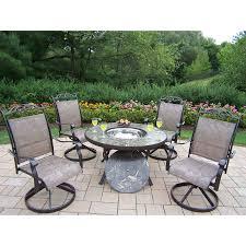 patio dining: oakland living stone art  piece stone dining patio dining set