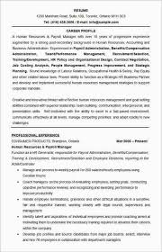 human resources manager resume format template management resume format