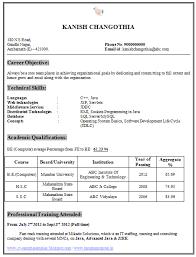 Resume Format       Download Resume Format