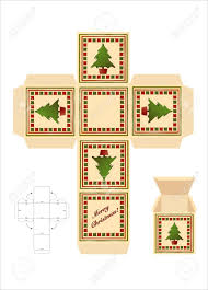 a christmas gift box cut out template assembly instructions a christmas gift box cut out template assembly instructions eps10 vector format