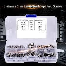 <b>60PCS M5</b> Stainless Steel Hex Socket Cap Head Screws Set $5.53 ...