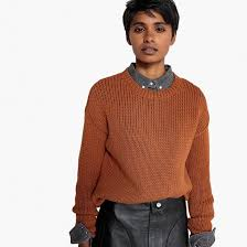 <b>Пуловер</b> с круглым вырезом из плотного трикотажа <b>La Redoute</b> ...