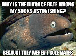 Why is the divorce rate among my socks astonishing? Because they ... via Relatably.com
