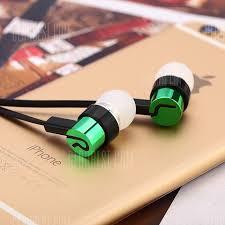 <b>In-ear Earphones Noodle Line</b> for MP4 / MP3 Green Earbud ...