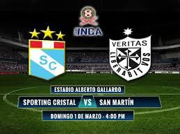 Cristal vs San Martin en vivo