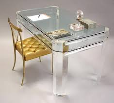 lucite and glass desk acrylic office desk