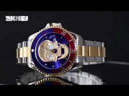 SKMEI 9195 <b>men fashion waterproof quartz</b> watches - YouTube
