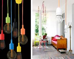 coloured cords1 cable pendant lighting