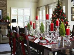 Christmas Dining Room Kitchen Table Decorating Ideas Pictures Dining Room Table