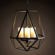 nordic retro ironresin shade material hand painted pendant light classic black drop lamp for home decoration candle decorative modern pendant lamp