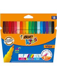 <b>Цветные фломастеры</b>, 18 цветов, детские, смываемые, тонкое ...