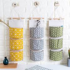 <b>Multilayer 3 Pockets</b> Wall <b>Hanging</b> Storage Bags Linen Closet Room ...