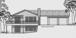 Side Sloping Lot House Plan  Walkout Basement  Detached GarageHouse front color elevation view for Master on main house plans  house plans