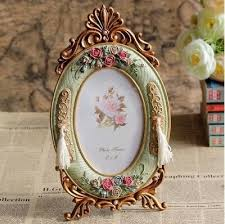 Oval Gold Framed Photo <b>Frame Retro European Style</b> With Rose ...