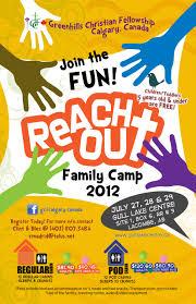 camp flyer greenhills christian fellowship calgary gcf calgary family camp at gull lake 27 28 29 2012
