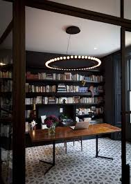 28 dreamy home offices with libraries for creative inspiration cat 2 office lighting