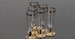 Купить EC-16 <b>Фужер для шампанского</b> с золотой окантовкой ...