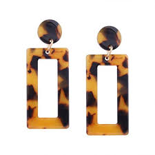 1 Pair Girl Fashion Acid <b>Acrylic Earrings</b> Dangle Square <b>Earrings</b> ...